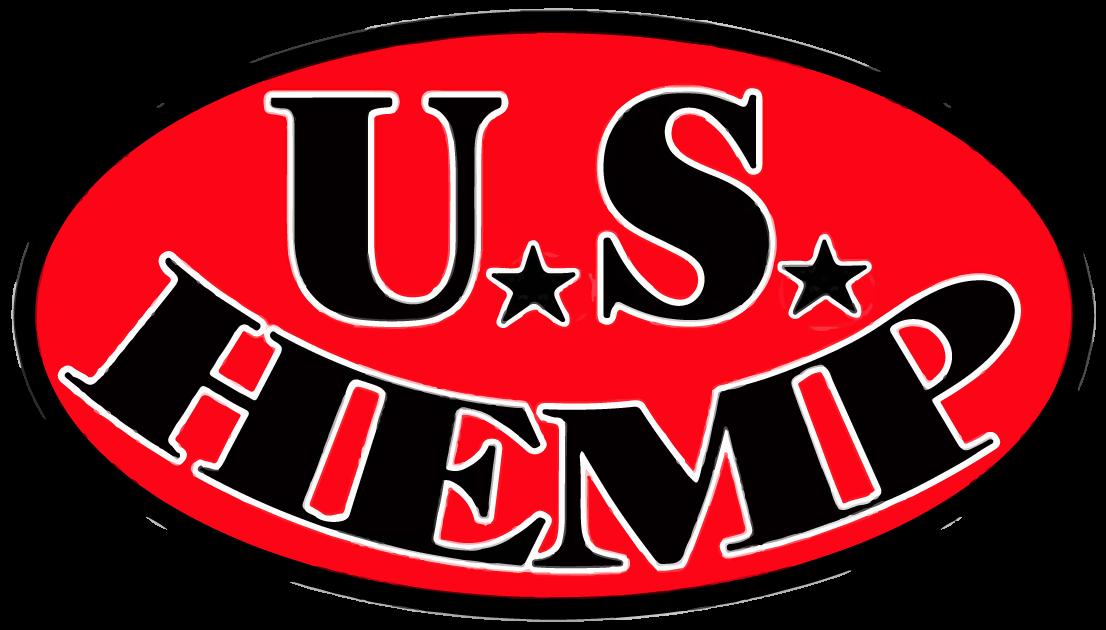 US HEMP Round oval logo red white black